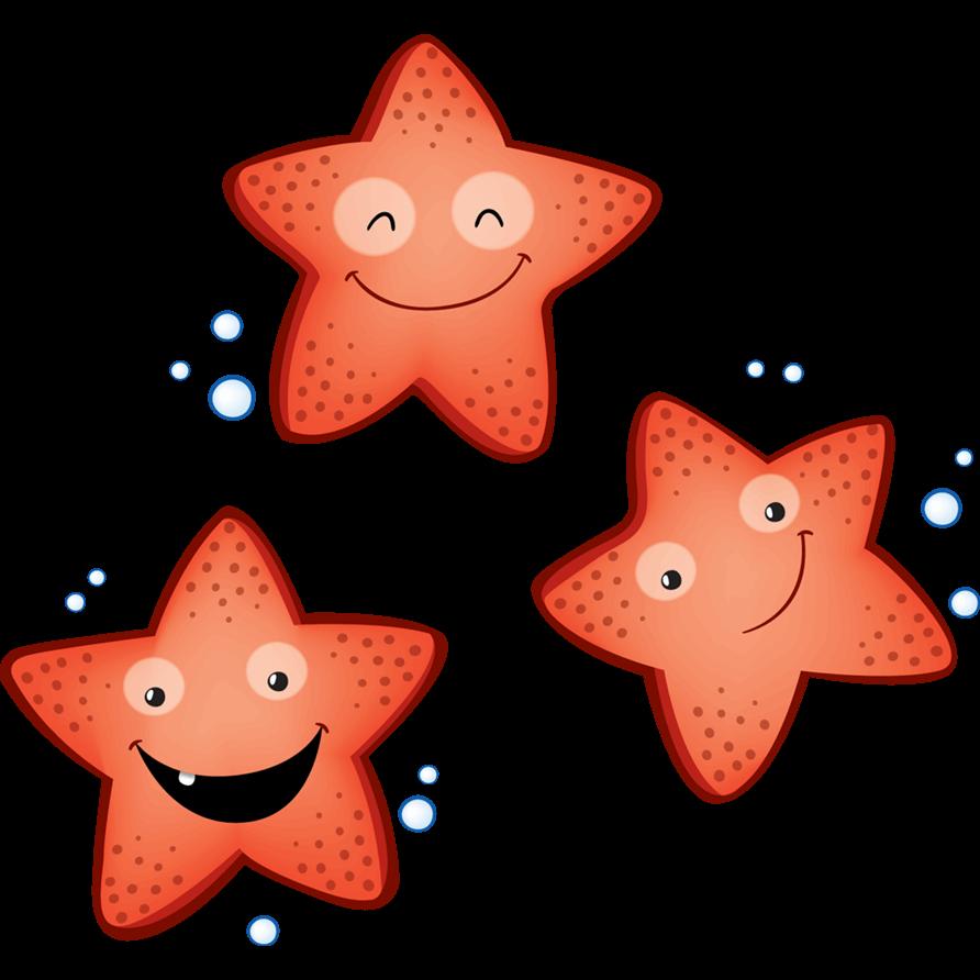 Adesivi murali stelle marine leostickers for Stelle da colorare per bambini